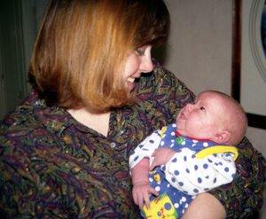 Mom with newborn baby Charlotte
