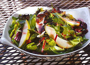 Pear Salad with Glazed Pecans