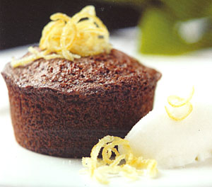 Meyer Lemon Mini Spice Cakes with Meyer Lemon Sherbet
