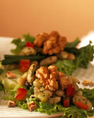 Walnut and Three Bean Salad
