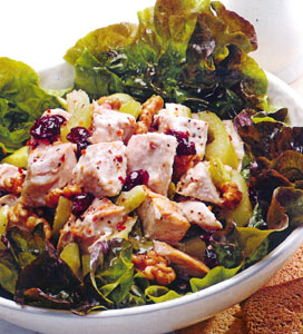 Chunky Turkey Salad with Cranberries and Walnuts