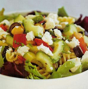 The Poor Chef's Mediterranean Chickpea Pasta Salad Recipe