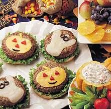 Halloween Hamburgers for Kids