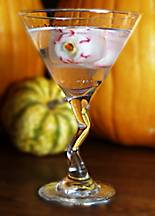 Eyeball martinis for Halloween