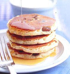 Lemon and Sultana Buttermilk Pancakes