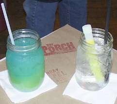 Green gator cocktail