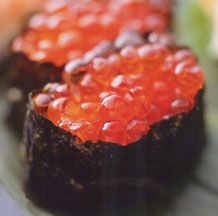 Salmon Roe Sushi -- Ikura