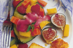 Avocados Stuffed with Tropical Fruit and Berries