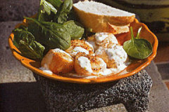 Seared Scallops with Lime Jalapeno Aioli
