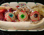 Eyeball Breakfast Banana Split for Halloween