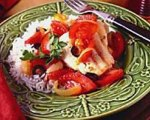 Flounder and Tomatoes with Mediterranean Flavors