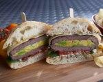 Stuffed Hamburgers with Hass Avocado and Jarlsberg Cheese