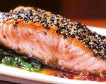 Michael Lomonaco's Slow Roasted Sesame Salmon with Ginger