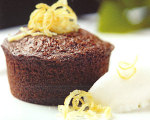 Meyer Lemon Mini Spice Cakes with Meyer Lemon Sherbet