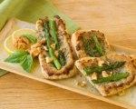 Asparagus and Walnut Puffs