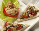 Baked Pitas with Walnuts and Cherry Tomatoes