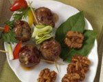 Cocktail Walnut Turkey Meatballs in Sweet and Sour Sauce