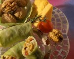 Mini Cheese and Walnut Cabbage Rolls
