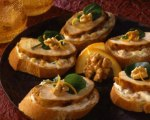 Paprika Chicken Mini Sandwiches with Orange Walnut Sauce