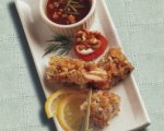 Walnut-Crusted Salmon Bites with Apricot Ginger Dipping Sauce