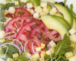 Tomato, Avocado and Roasted Corn Salad with Chipotle Sherry Vinaigrette