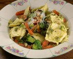 Ravioli with Pesto and Veggies