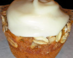 Pumpkin Banana Spice Muffins with Creamy Glaze 
