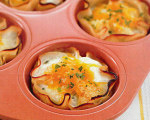 The Biggest Loser's Baked Eggs in Turkey Cups