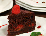 Ani Phyo's Raw Foods Raspberry Ganache Fudge Cake