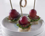 Bacon Lettuce and Grape Canapes