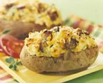 Twice Baked Potatoes with Sausage and Cheese