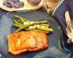 Low Carb Maple Salmon with Sauteed Asparagus