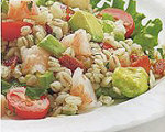 Bacony Barley Salad with Marinated Shrimp