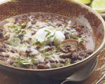 Slow Cooker Black Bean and Mushroom Chili