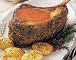 Rosemary Garlic Beef Rib Roast