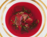 Beet and Pomegranate Borscht