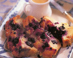 Huckleberry Bread Pudding with Maple Custard Sauce
