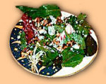 Mixed Green Salad With Blue Cheese and Walnuts