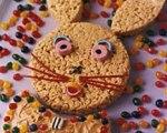 Peanut Butter Bunny Crisp Cake