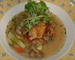 Chilean Seabass in Broth with Vegetable Ragout