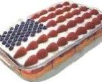 Easy American flag cake