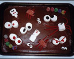 Easy to Make Goofy Spooky Cake