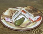 Grilled Ham, Tapenade and Cheese Sandwiches