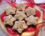 Low Carb Blonde Brownie Star Cookies
