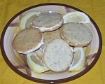 Lemon Poppy Seed Cookies with Cream Cheese Filling