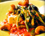 Sauteed Arugula and Spinach with Paneer and Cashews