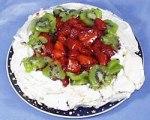 Strawberry and Kiwi Pavlova