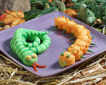 Mashed Potato Caterpillars -- Halloween Recipes