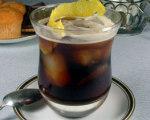 Iced Black Coffee with Lemon Peel