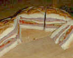 Round Layered Party Sandwich